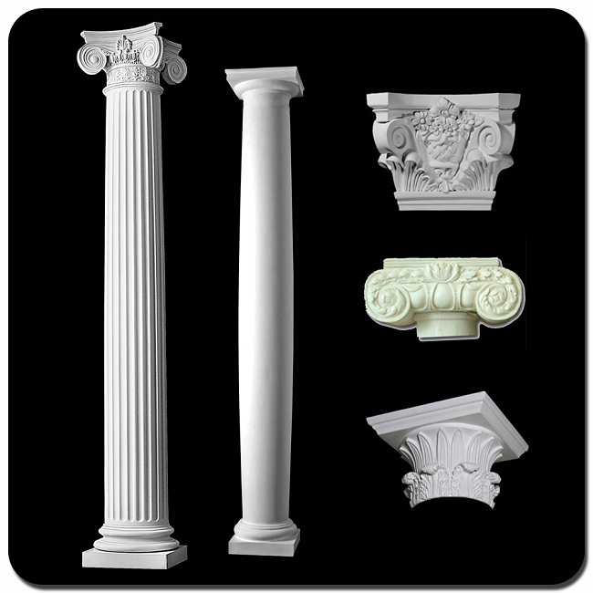 Square tapered stone columns egypt for decoration vp 077t for Decorative square columns