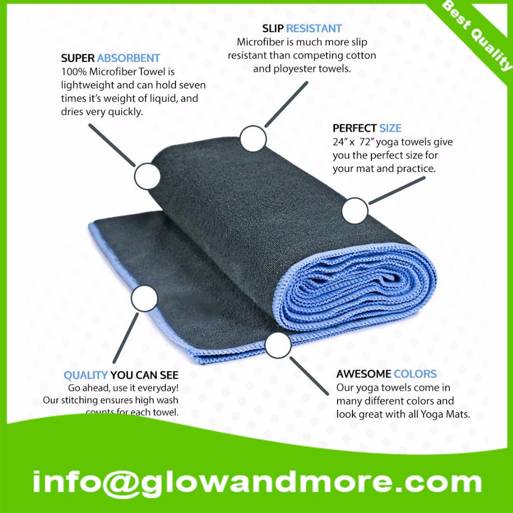 Premium Quality Factory Custom Ultra Soft Custom Yoga Towels