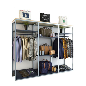 Best Selling Clothing Store Display Rack Steel Shop Furniture Garment Display