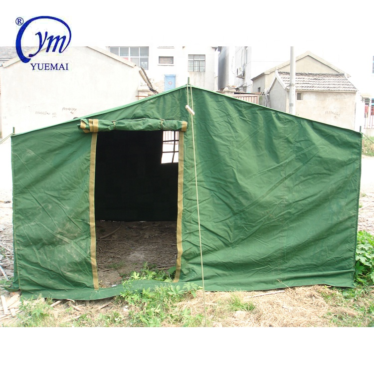 Outdoor winter portable green canvas 3x3m column military used camp tent