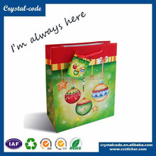 Hot sale christmas branded gift paper bags in bulk
