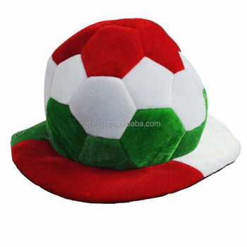 360930e79a875a Party Funny Italian Flag Color Crazy Soccer Fan Hats Mh-1882 - Buy ...