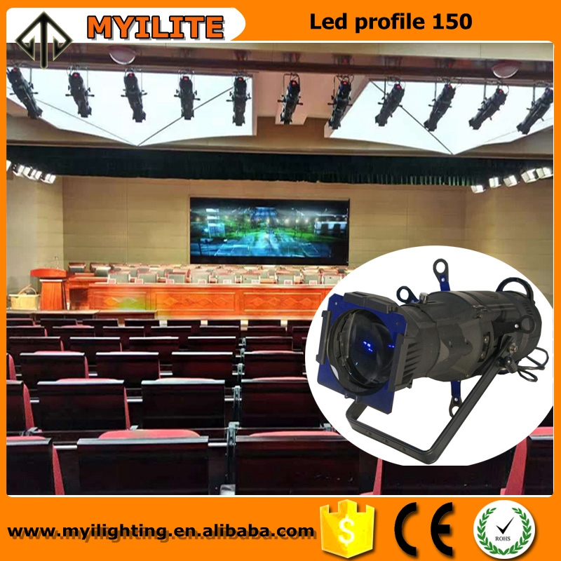 2017 Led <strong>source</strong> four stage lighting cob led profile 150W warm white for meeting room,auditorium,theater,studio