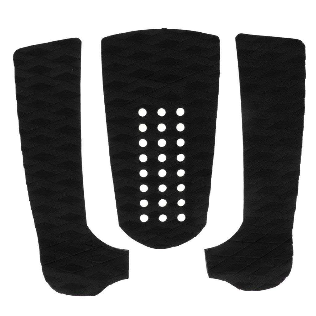 3pcs / Set EVA Diamond Pattern Surfboard Traction Tail Pads Surf Deck Grips
