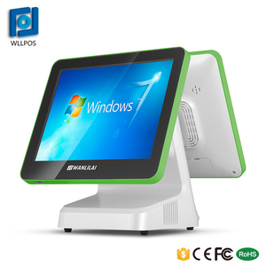 2018 Touch screen Desktop Private design green color dual screen Pos system