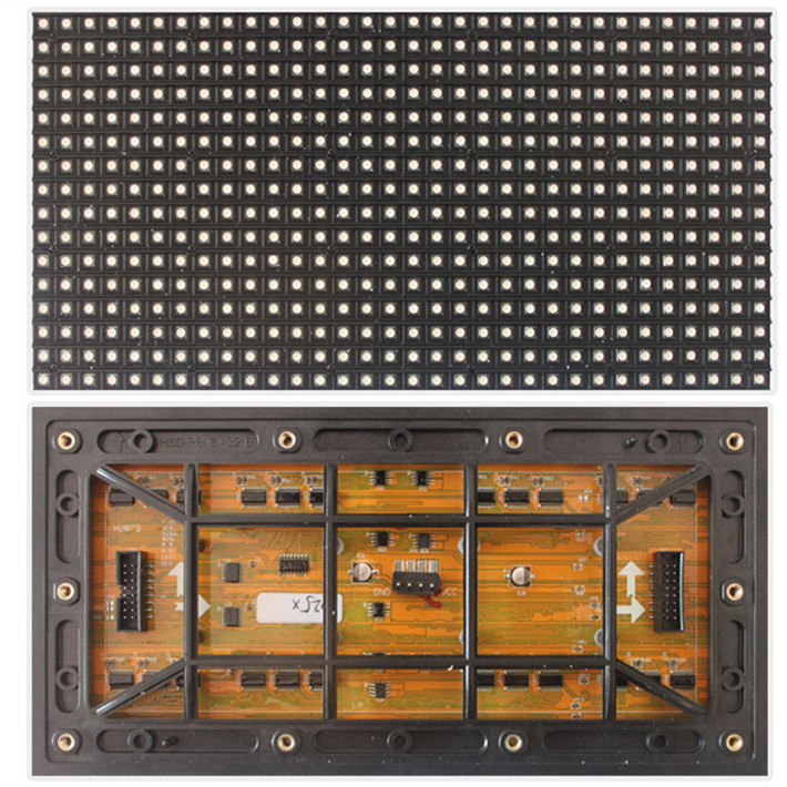 P8 SMD3535 RGB full color led display wall p8 outdoor 256mmx128mm module 1/4 scan led Lowest price