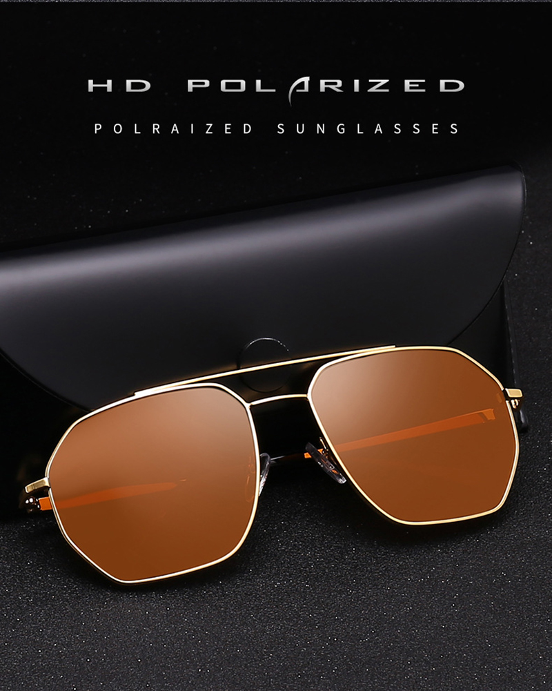 Fuqian male mens brown sunglasses fashion design for men-5
