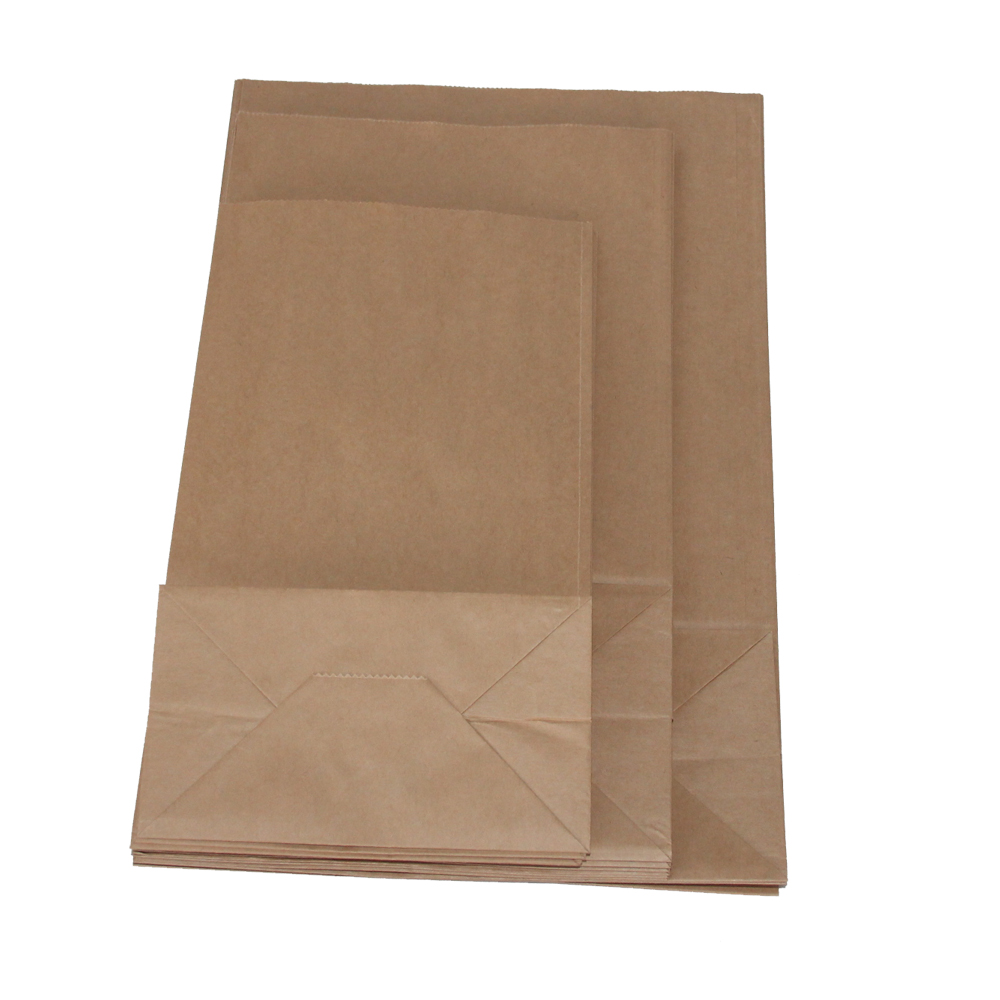 Brown Plain Paper Food Bags Without Handle