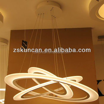 Three Circle LED Suspension pendant lights luxury dining room ...