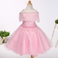 Latest dress designs pictures baby girl party wear children evening dress LH536