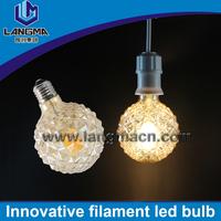 UL filament bulb G95 E27 led lights warm white 2200k Newest led light