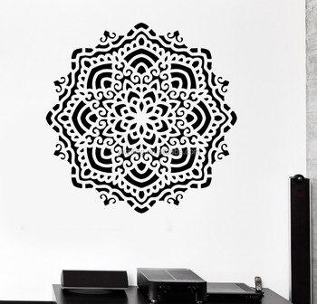 Buddha Mandala Yoga Om Vinyl Wall Stickers India Wall Decals Big Bedroom Wall  Stickers