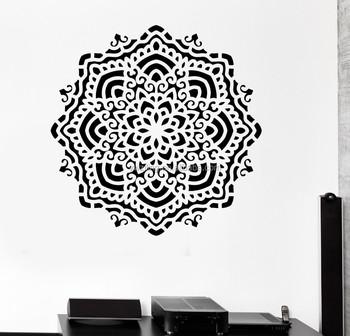 Buddha Mandala Yoga Om Vinyl Muurstickers India Muuroverdrukplaatjes ...