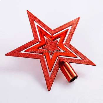 Christmas Tree Topper Star Five Pointed Xmas Decoration Ornament