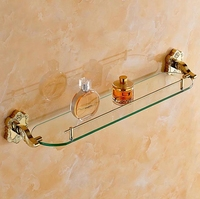 Art Carving Household Hotel Bathroom Accessories Wall Mounted Gold Shelves BM15253 Bathroom Shelves