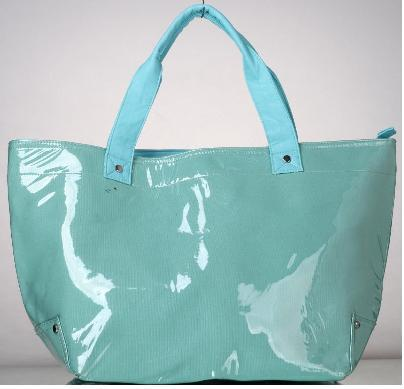 high quality pvc coated cotton shopper tote handles carry bags wholesale