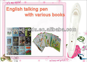 Hindi talking pen with hi-definition speaker and data updating