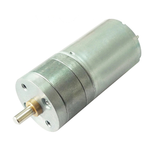 6v 12v 25mm slow speed brushed dc gear motor for value
