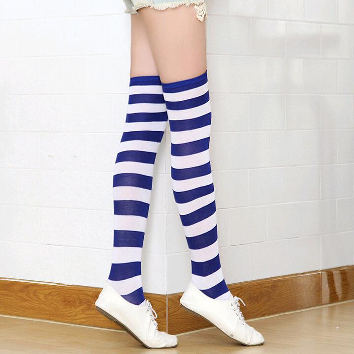 4231e8a36 fashion sexy girls ladies Striped Tights Fancy Dress red white purple green stripe  Sock