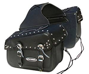 Oxide 40L Premium Tek Leather Helmet Carrier Saddle Bag Travel Roll