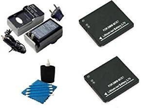 2 Pack Battery and Charger Kit includes Two Extended Replacement Panasonic DMW-BCK7 Batteries + Rapid Power Travel Charger + 3 Piece Cleaning Kit for Lumix DMC-FH2, DMC-FH4, DMC-FH5, DMC-FH6, DMC-FH7, DMC-FH8, DMC-FH25, DMC-FH27, DMC-FP5, DMC-FP7, DMC-FS16, DMC-FS18, DMC-FS22, DMC-FS28, DMC-FS35,