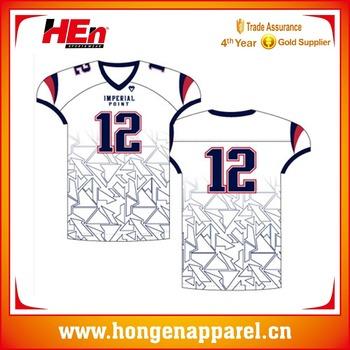 cf6bb1e7e2e Hongen apparel wholesale cheap national team latest designs youth sublimated  custom soccer uniform american football jersey