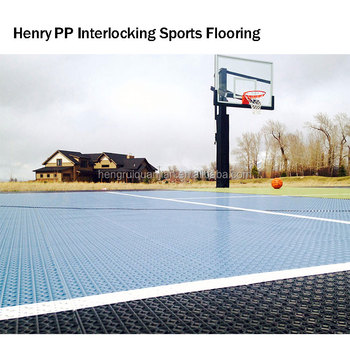 Outdoor plastic indoor basketball court flooring cost for Cost for basketball court