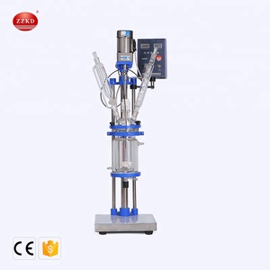 Hot Sale Glass Chemical Reactor for Material Mixing Reaction