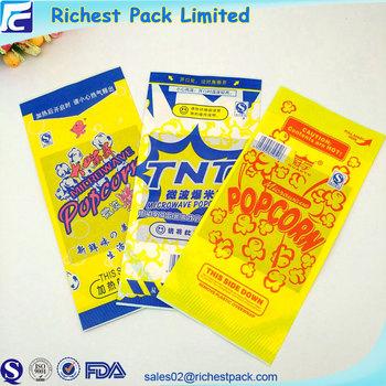 Custom Logo Popcorn Bags Microwave Packaging Whole