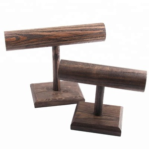 DIY Brown Wood Display T-BAR Watch/Bracelet Jewelry Display Stand Holder