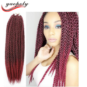 22 inch 3D TM Split Crochet Braid 120gram/pc Afro Natural Cubic Twist Synthetic Ombre Havana Mambo Senegalese Hair Extensions