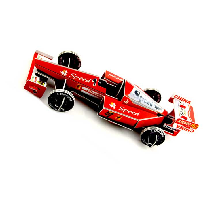 Formula F1 One Racing Car 3D Puzzle Model Metallic Stainless Steel