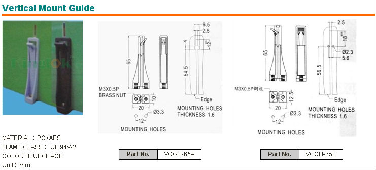 Vertical Mount Guide Pcb Card Guides Nylon Pcb Ejector Pcb