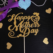 Hot Sale Happy Mother's Day Paper Cake Topper Cake Decorations
