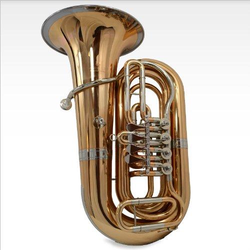 Schiller American Heritage BBb Studio 4-Valve Rotary Tuba - Brass & Cupronickel Bell Ring
