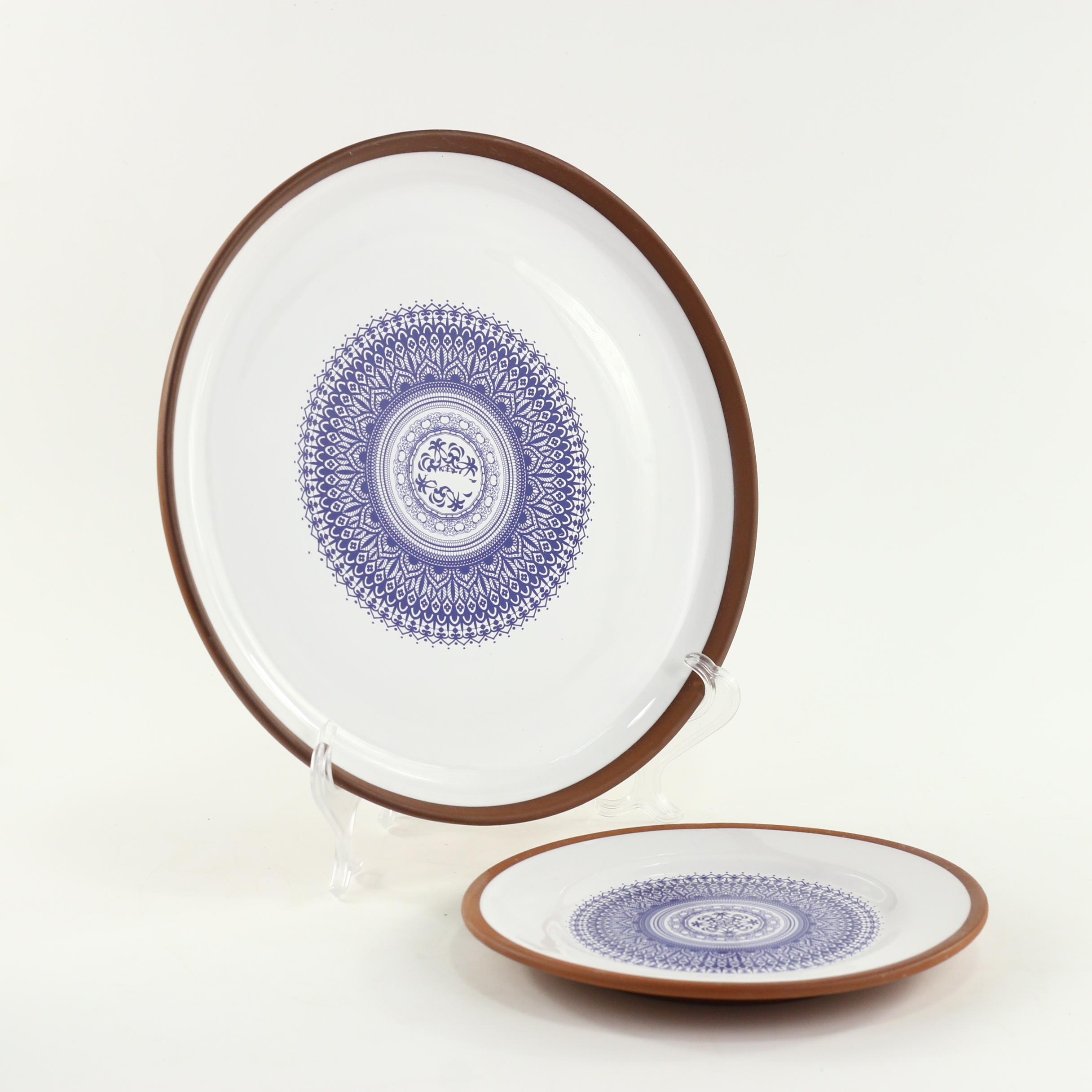 Customized Logo Terracotta Stoneware Big Round Plate