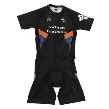 Men s Triathlon Suit Custom Sublimation Short Sleeve One Piece Tri Suit 96fe4176f