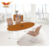 H30-0371 Luxury design conference office solid wood top meeting table with chair