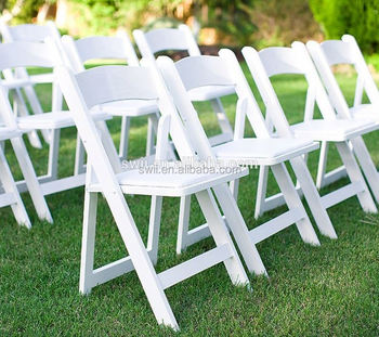 luxury white resin folding chair wholesale plastic folding chair for