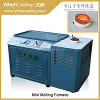 Yihui brand 1KG Mini induction melting furnace small molten gold machine for jewelry goldsmith tools