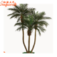 Needle Fern Fake Plants Green Leaves Artificial Kwai Palm Tree with fiberglass trunk for outdoors decoration