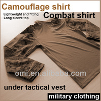 Army camouflage Combat shirt Under tactical vest camouflage jacket