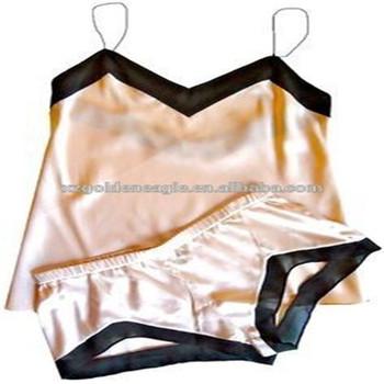 f9391b17640b 2018 Summer 100% Pure Silk Underwear Alluring Pink Silk Lingerie ...