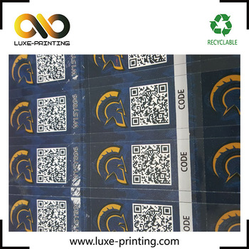 Custom Pin Barcode Qr Code Anti Fake Stickers For Gift Cards Self Peel &  Stick Diy Labels Scratch-off Labels - Buy Scratch Off Label