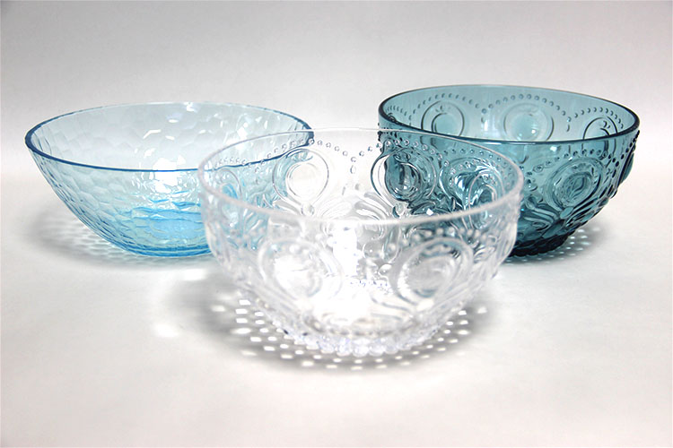 Elegant clear embossed antique glass fruit bowls large plastic vegetable bowl glass dessert bowl
