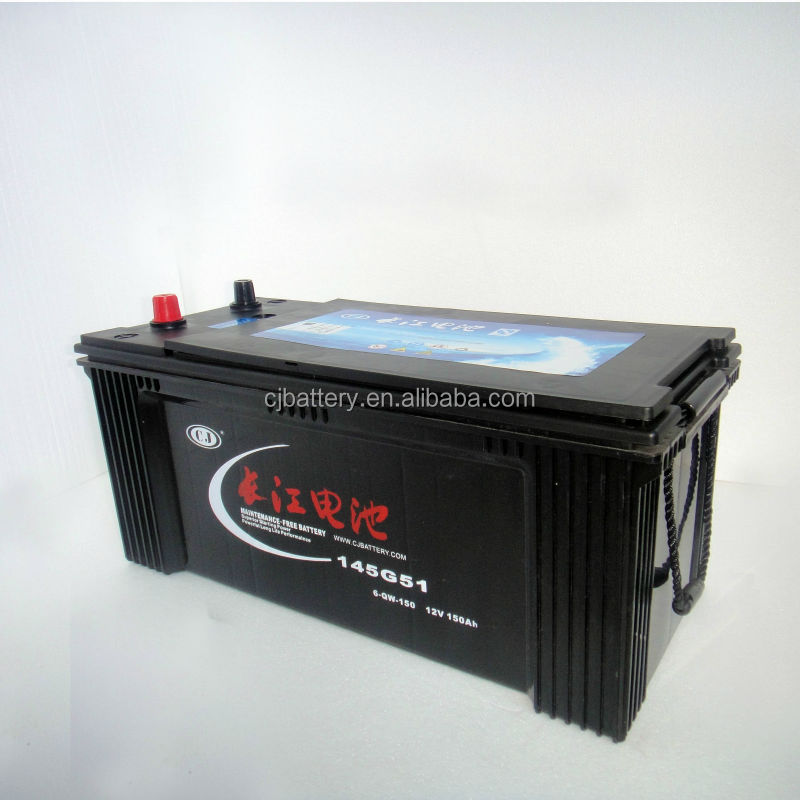 high quality 150ah truck starting battery 6-QW-150