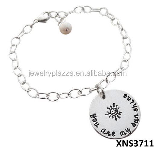 Elegant Sterling Silver Jewelry 925 Silver You Are My Sunshine Bracelet
