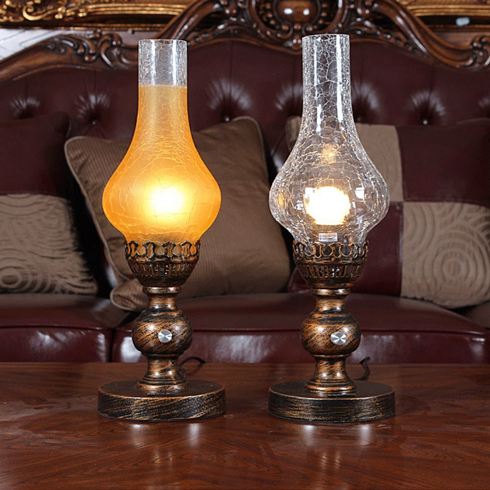 Get Quotations · Injuicy Lighting Vintage Industrial Desk Lamp Edison Bulb  Antique Kerosene Glass Led Wrought Iron Stand Table - Cheap Vintage Desk Lamps For Sale, Find Vintage Desk Lamps For Sale