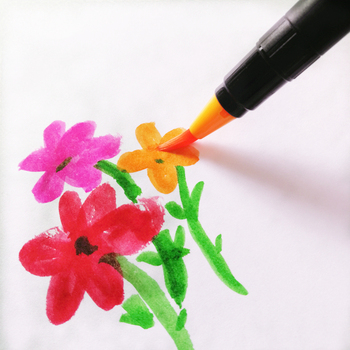 48 colors kids art painting writing brush pen
