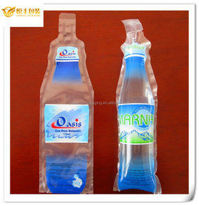 drinking water plastic bag/bottle shape plastic bag for water